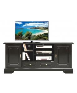 meuble tv hifi, meuble tv laqué., meuble noir