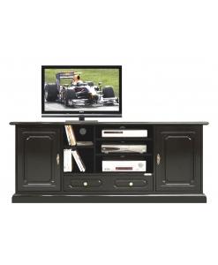meuble tv-hifi, meuble tv, meuble tv noir, meuble tv en bois