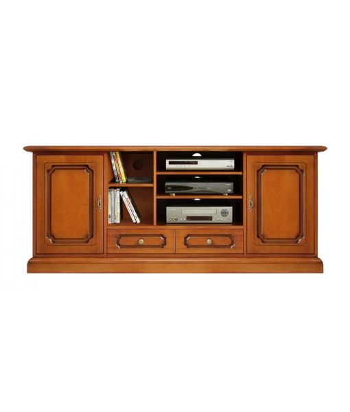 Meuble Tv Hi-fi en bois 160 cm largeur Arteferretto, Art. 4070-S