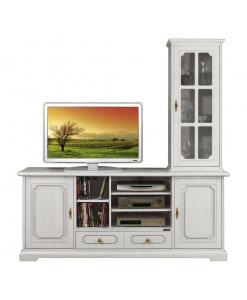 composition meubles tv, ameublement pour le salon, ameublement classique