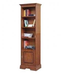 bibliothèque colonne classique en bois, bibliothèque sauve-espace, bibliothèque colonne