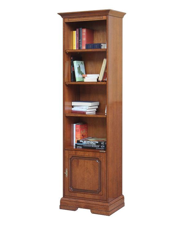 Biblioth que colonne en bois bureau et salon meuble for Colonne bureau