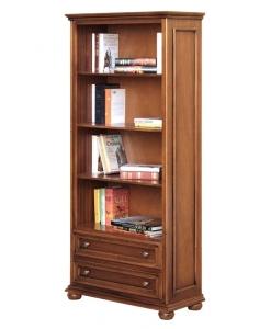 Meuble bibliothèque classique 2 tiroirs Arteferretto