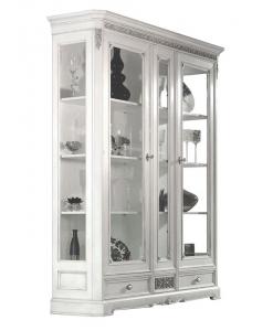 vitrine, vitrine pour le salon, vitrine classique, ameublement de style, ameublement classique pour la maison, vitrine laquée,