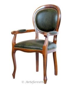 sedia capotavola, sedia in pelle, sedia classica