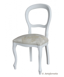 chaise laquée, chaise blanche