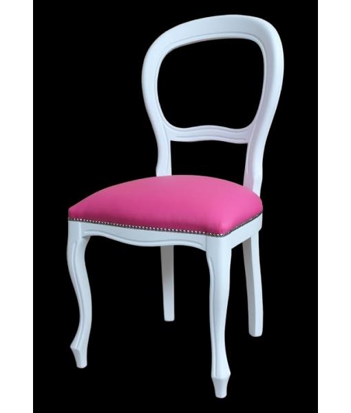chaise blanc laqu e style louis philippe lamaisonplus. Black Bedroom Furniture Sets. Home Design Ideas