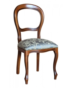 chaise style Louis Philippe, chaise assise rembourrée