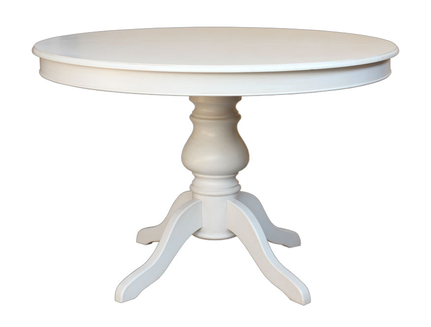 Table ronde laqu e louis philippe 110 cm lamaisonplus - Table ronde 110 cm ...