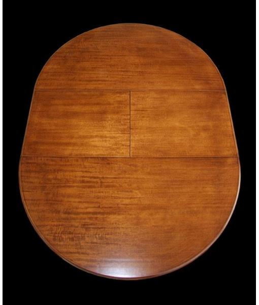 table Louis Philippe ronde à rallonge, table en bois, table de style