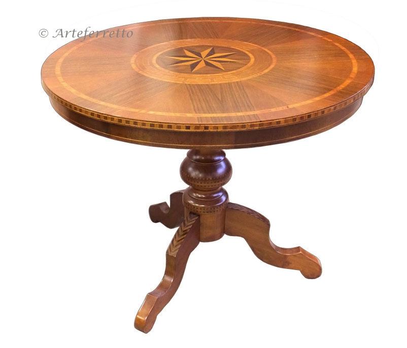 table ronde fixe marquet e 90 cm lamaisonplus. Black Bedroom Furniture Sets. Home Design Ideas