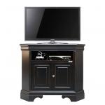 Meuble tv d'Angle, meuble tv, meuble tv noir, meuble d'angle, meuble classique, ameublement pour le salon