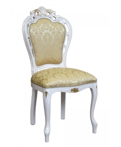 chaise blanche, chaise bois massif