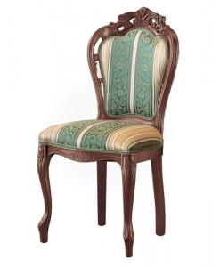chaise sculptée en bois de hêtre