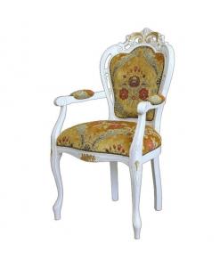 chaise classique, chaise avec accoudoirs, chaise bout de table
