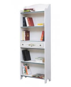 Bibliothèque étagère décorée avec tiroir Arteferretto