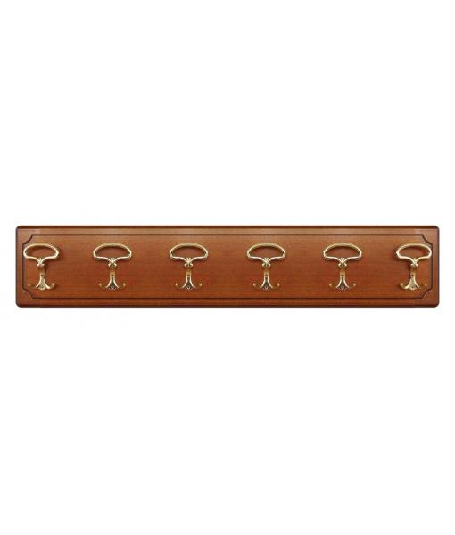 Pat re classique en bois 6 crochets lamaisonplus for Largeur porte classique