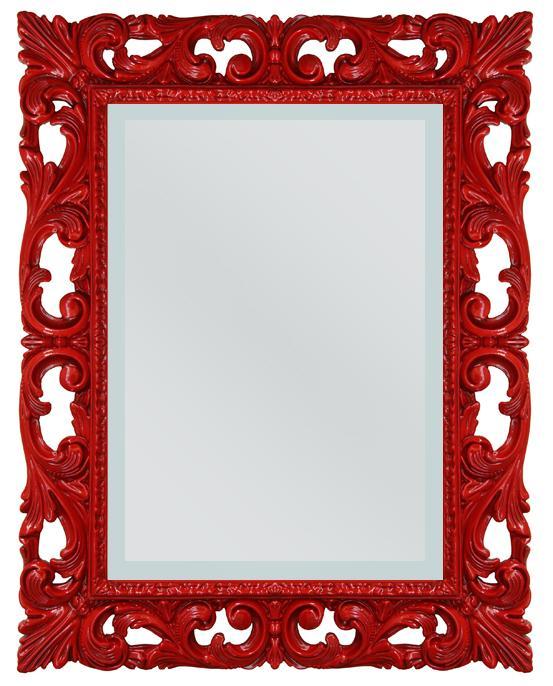 Miroir design rouge lamaisonplus for Miroir rouge