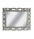 Miroir sculpté feuille or ou argent, miroir feuille d'argent, miroir pour chambre miroir pour entrée