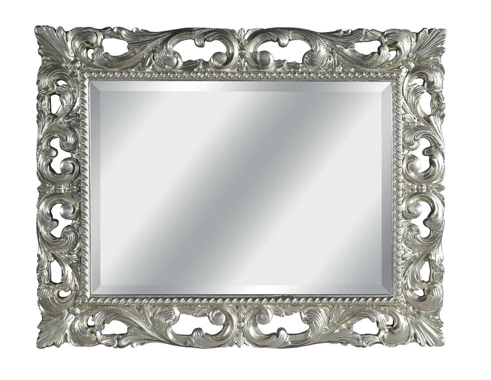 miroir sculpt feuille or ou argent. Black Bedroom Furniture Sets. Home Design Ideas