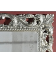Miroir sculpté feuille argent réf. 6705