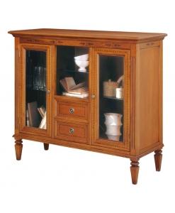 vitrine classique, vitrine en bois, vitrine de style, ameublement de style, ameublement classique