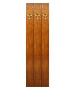 Vestiaire porte manteau 3 crochets en bois Arteferretto
