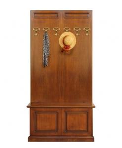 Vestiaire avec coffre de rangement en bois Arteferretto