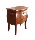 Table de chevet bombée, chevet forme bombée, petite table de chevet, meuble chevet pour chambre