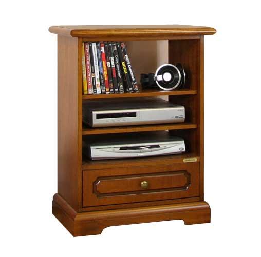 petit meuble tv en bois meuble tv petit 1 tiroir et tag res meuble de style ebay. Black Bedroom Furniture Sets. Home Design Ideas