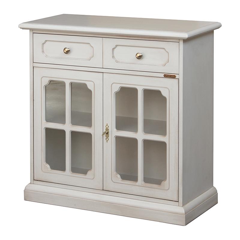 Petit meuble buffet avec portes vitr es bahut de salon teinte au choix ebay - Petit buffet salon ...