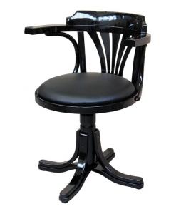 Fauteuil tournant noir, fauteuil en massif