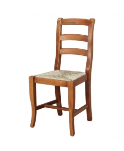 Chaise de cuisine assise en paille