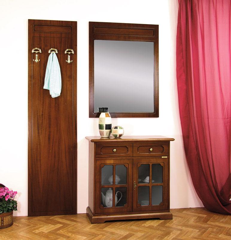 ensemble de meubles dentre en bois porte manteau buffet et miroir de style