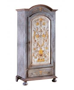 Armoire penderie une porte bleu avec décoration Arteferretto