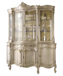 vitrine, vitrine de luxe, vitrine de style, vitrine pour le salon, ameublement de style pour le salon, ameublement classique pour la maison, vitrine laquée, vitrine en feuille d'or,