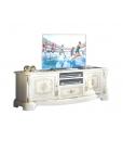 Meuble TV laqué et décoré
