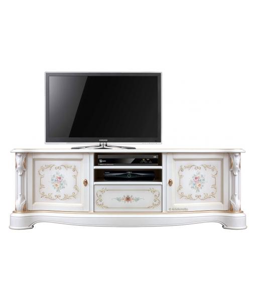 Meuble TV laqué et décoré, RÉF : A-31
