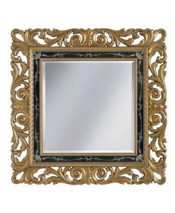 Miroir classique baroque en feuille d'or Arteferretto