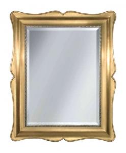 Miroir mural classique à la feuille d'or Arteferretto