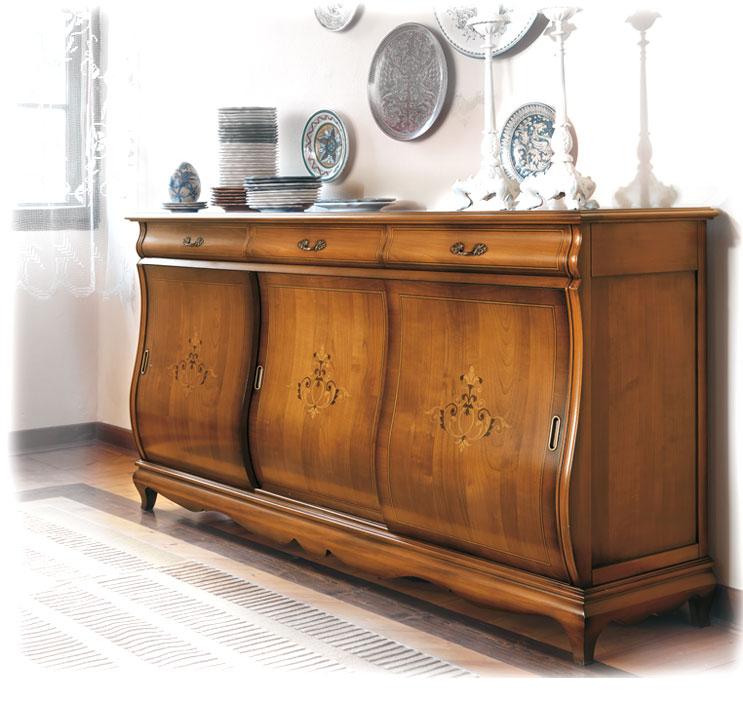buffet classique marquet portes coulissantes bahut. Black Bedroom Furniture Sets. Home Design Ideas