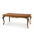 Table rectangulaire, table sculptée, table grande de salon