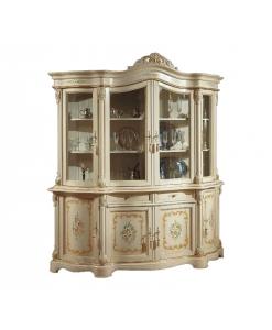 Vitrine argentier, vitrine laquée, vitrine decorée, vitrine classique, ameublement de style, ameublement classique
