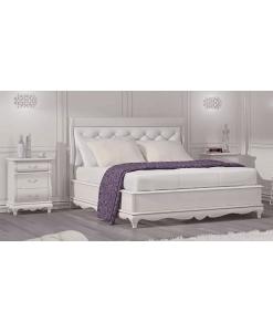 lit deux places blanc, lit rembourré