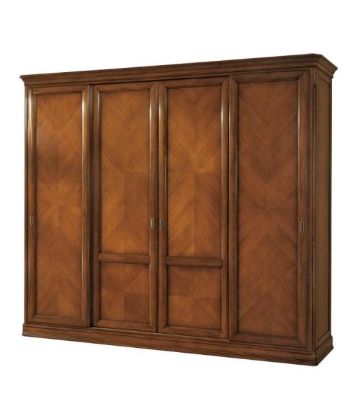 armoire 4 portes coulissantes lamaisonplus. Black Bedroom Furniture Sets. Home Design Ideas