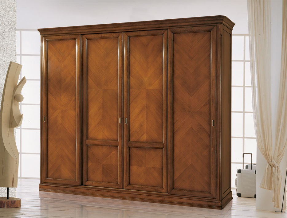armoire 4 portes coulissantes lamaisonplus. Black Bedroom Furniture Sets. Home Design Ideas