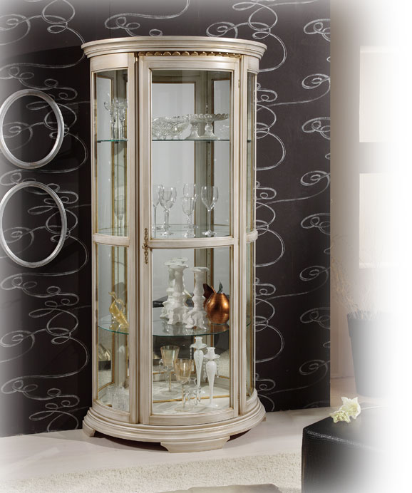 vitrine demi lune cristal lamaisonplus. Black Bedroom Furniture Sets. Home Design Ideas