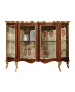petite vitrine, vitrine, vitrine classique, vitrine de style, vitrine pour le salon, vitrine classique pour la maison