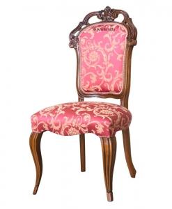 chaise classique, chaise rembourrée, chaise de salon
