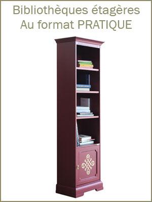 Bibliothèque colonne étroite en bois style classique, meuble bibliothèque pratique et fonctionnel en bois pour bureau ou cabinet